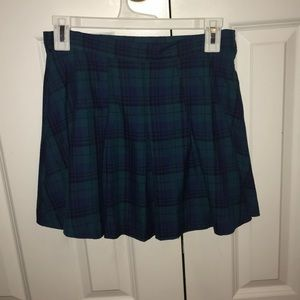 Blue H&M plaid skirt- size 6